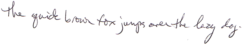 Right-hand normal writing