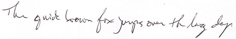 Right-hand scrawl
